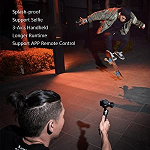 Feiyutech G5 V2 Updated 3 Axis Handheld Gimbal for GoPro Hero 6/5 /4/3 /Session, Yi Cam 4K, AEE Action Cameras and Other Similar-Sized Action Cameras (Tripod and Extension Pole Included) (G5 V2)
