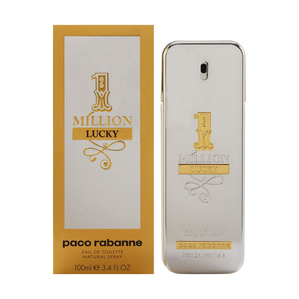 1 Million Lucky by Paco Rabanne Eau de Toilette Spray, 3.4 Fl Oz 512BlqaQ7ZlL