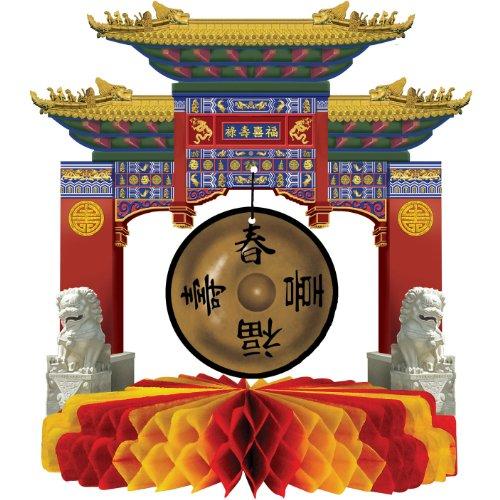 Beistle 50302 Asian Gong Centerpiece