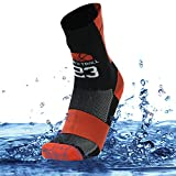 SuMade Men's Waterproof Thermal Wicking Running Sock Liners 1 Pair (Black, Large)