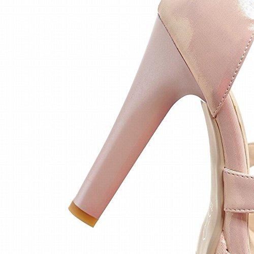 Mee Shoes Damen Peep toe high heels Plateau Sandalen Pink