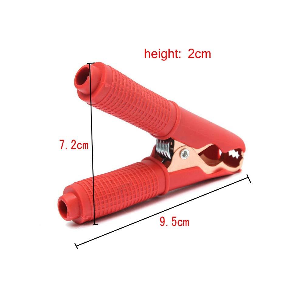 4 Rojo, 4 Negro 100A Clips de Cable de Refuerzo de Coche JZK 8 x Pinzas de cocodrilo el/éctricas para Coche Cable de bater/ía