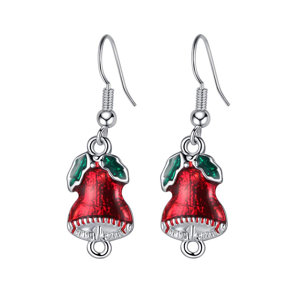 Topdo Stud Earringss Christmas Earringss Simple Jewelry Gift for Women Girl 1 Pair