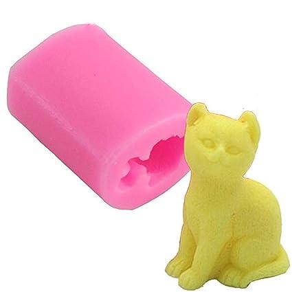 Molde de silicona 3D para gato Sunstre, moldes de jabón de chocolate para tartas,