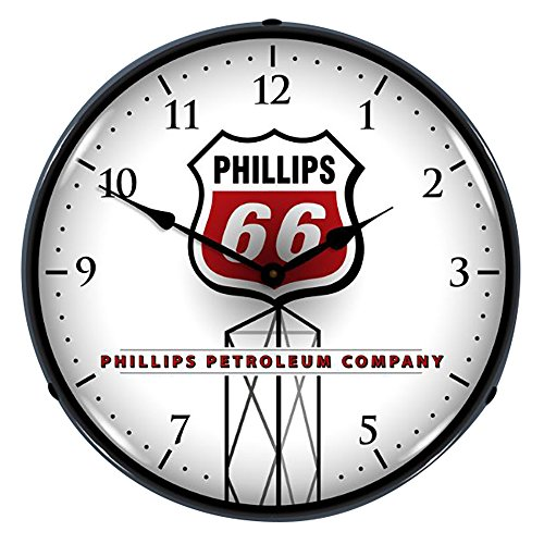 Collectable Sign And Clock 710089 14  Phillips 66 Lighted Clock