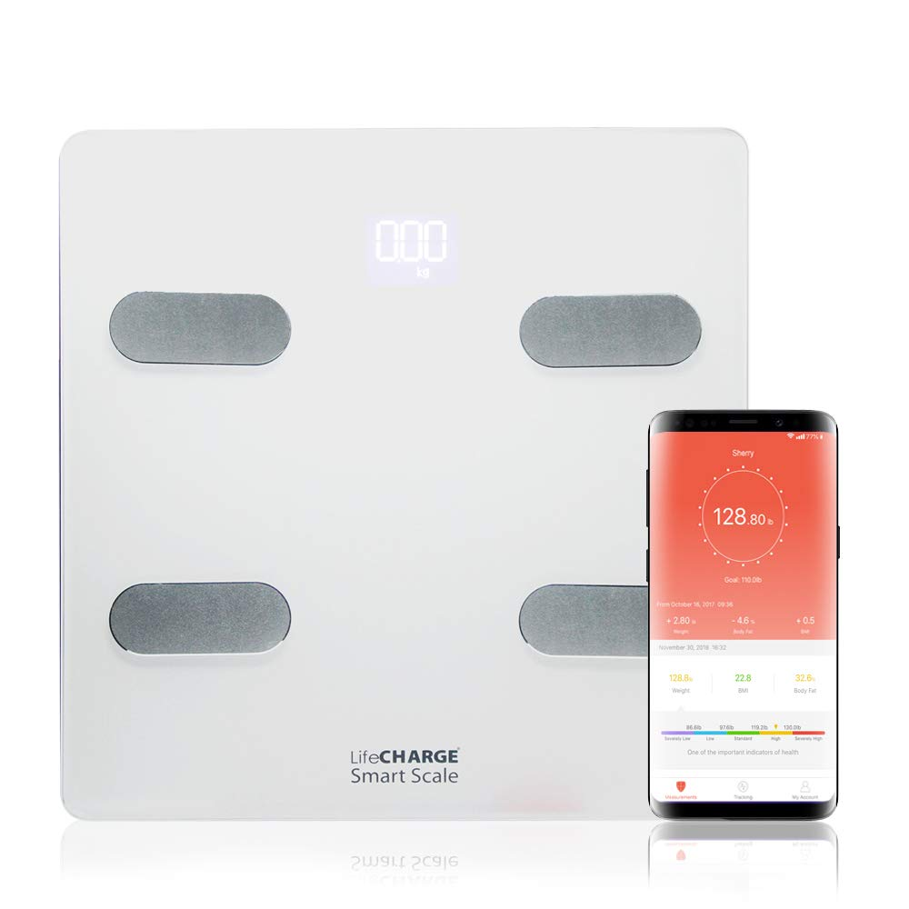 LifeCHARGE LC10 Smart Scale with 13 Body Compositions Analyzer