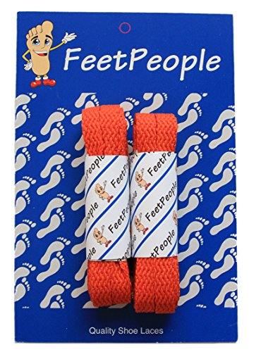 - FeetPeople Flat Laces, 2 Pair, Burnt Orange, 45 inches x 2 Pair