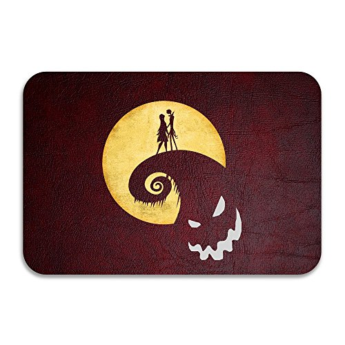 SARHT Nightmare Before Christmas Jack Sally Non-slip Doormat