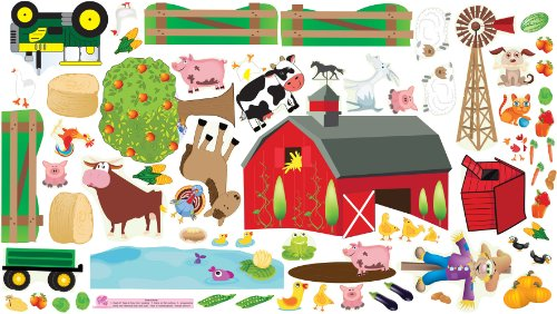 Mona Melisa Designs, Interactive Wall Play Set, Farm Plus