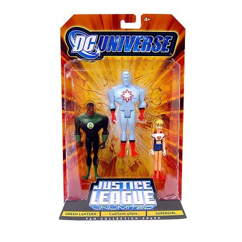 DC Universe Justice League Unlimited - Green Lantern, Captain Atom and Super ...