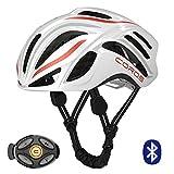 Cheap Coros Linx Smart Cycling Helmet, White/Orange/Grey Gloss, Large