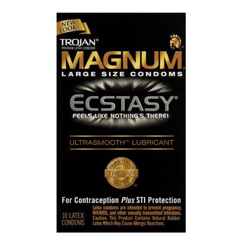 Trojan Magnum Ecstasy 10' Size 10ct