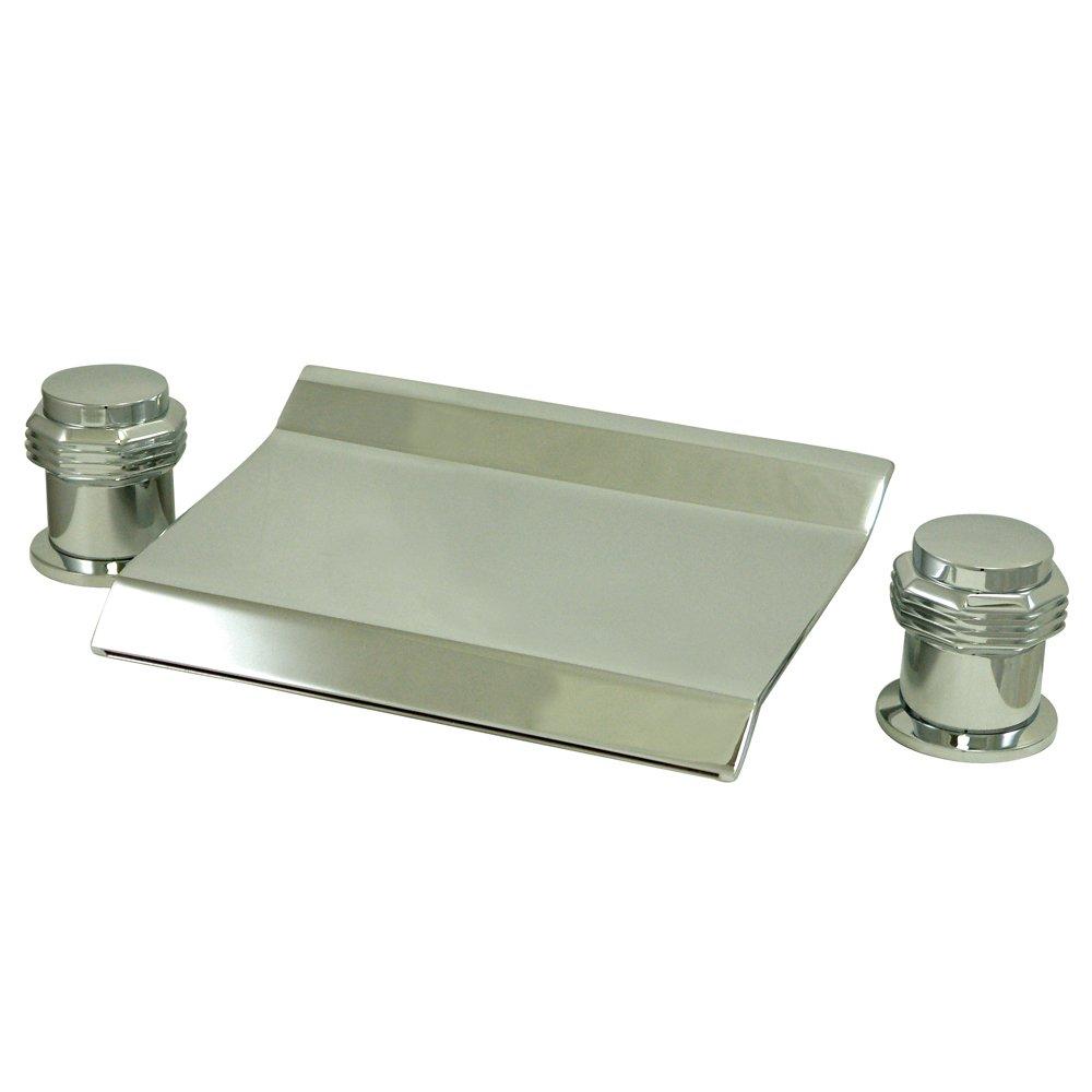 Kingston Brass KS2241AR Milano Waterfall Roman Tub Filler Faucet, 3 ...