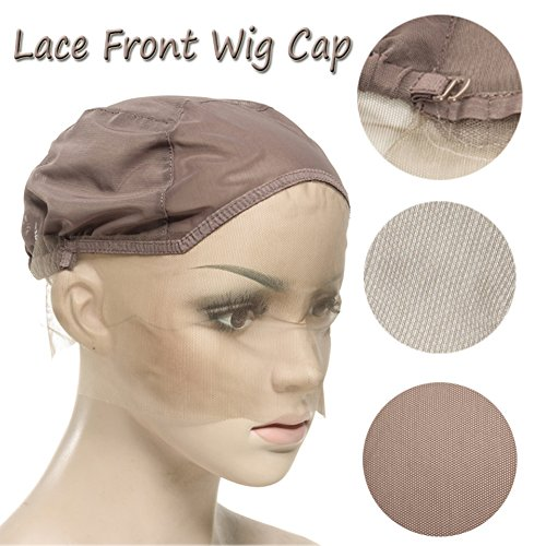 Breathable Lace Front Wig Cap with Adjustable Straps for Making Wig Light Brown Swiss Lace Elastic Band Light but Durable - Strap Tone Double