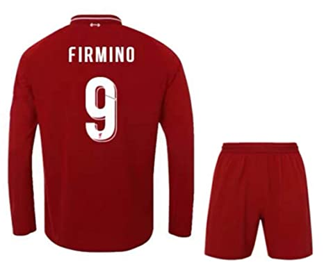 94af72c7083 ZZXYSY Firmino  9 Liverpool Men s Home Soccer Long Sleeve Jersey Short  Colour Red (