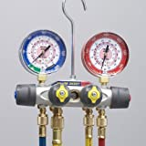 Yellow Jacket 49993 Manifold Only degrees F, psi Scale, R-22/134A/404A Refrigerant, Liquid Gauges