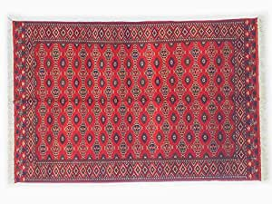 Pure Natural Wool Turkmen Elite Handmade Carpet (1.96m X 2.96m)