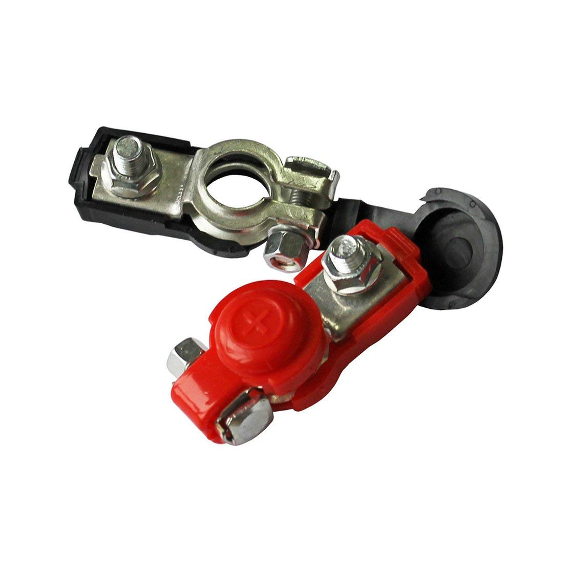 LouiseEvel215 2x battery quick-release clamps 6-12V pole terminals car battery terminals black and red color connector