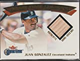 2001 Fleer Juan Gonzalez Tigers Game Used Bat Baseball Card #NNO
