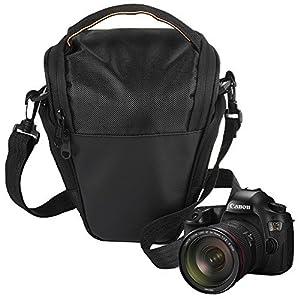 ALLCACA Holster Camera Bag SLR/DSLR Shoulder Bag Compact Camera Case with Durable Strap, Waterproof and Shockproof, Black