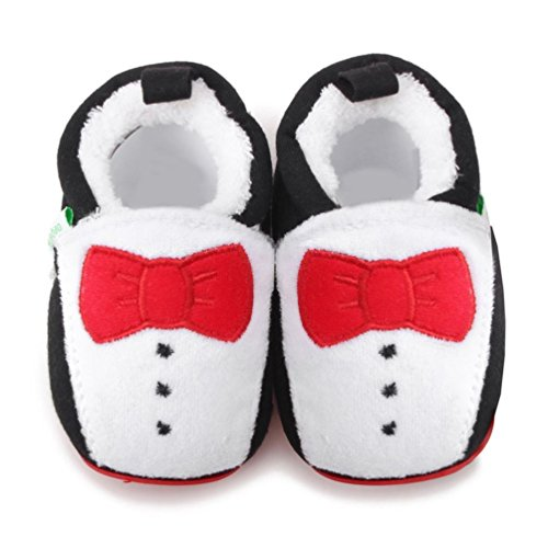 Baby Schuhe Huhu833 Baby weiches Säuglings Schuhe Cartoon Kleinkind neugeborene wärmende Schuhe (0~24Month) Schwarz