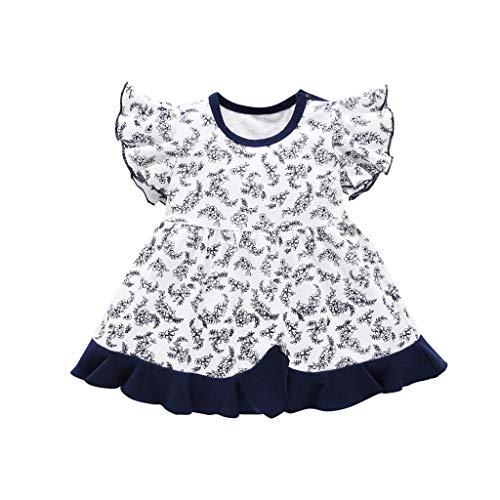 (80s Skirts for Knee Length Tutu Skirt Black Boho Dress Winter Crochet Dresses Big top Baby Girl Dress Shoes bib Skirt for Girls Little red(Navy,90))