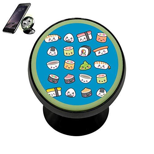 JRNFDKE Happy Kawaii Sushi Magnetic Phone Holder Vehicle Mounted Bracket Holders Car Luminous Function
