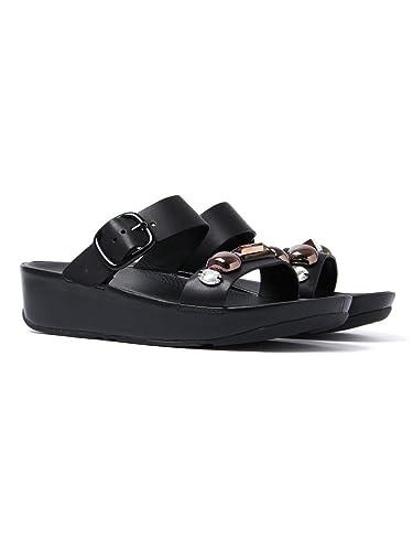 482fd1e05c32 Fitflop Women s Jeweley Slide Sandals - Black