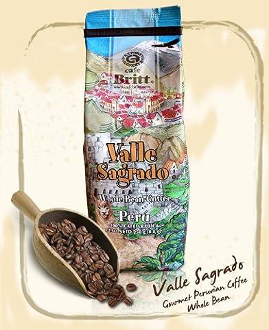 Cafe Britt Peru Valle Sagrado Whole Bean, 8.8 Ounce (Del Valle)