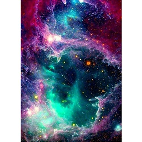 (5D Diamond Painting, feilin Full Drill DIY Diamond Painting Cross Stitch Kits Arts Craft for Adults or Kids Canvas Wall Decor Embroidery Painting by Number Kits Star Magic 30x40cm)