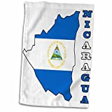 3D Rose The Flag Outline Map and Name of The Country Nicaragua TWL_55486_1 Towel, 15'' x 22''