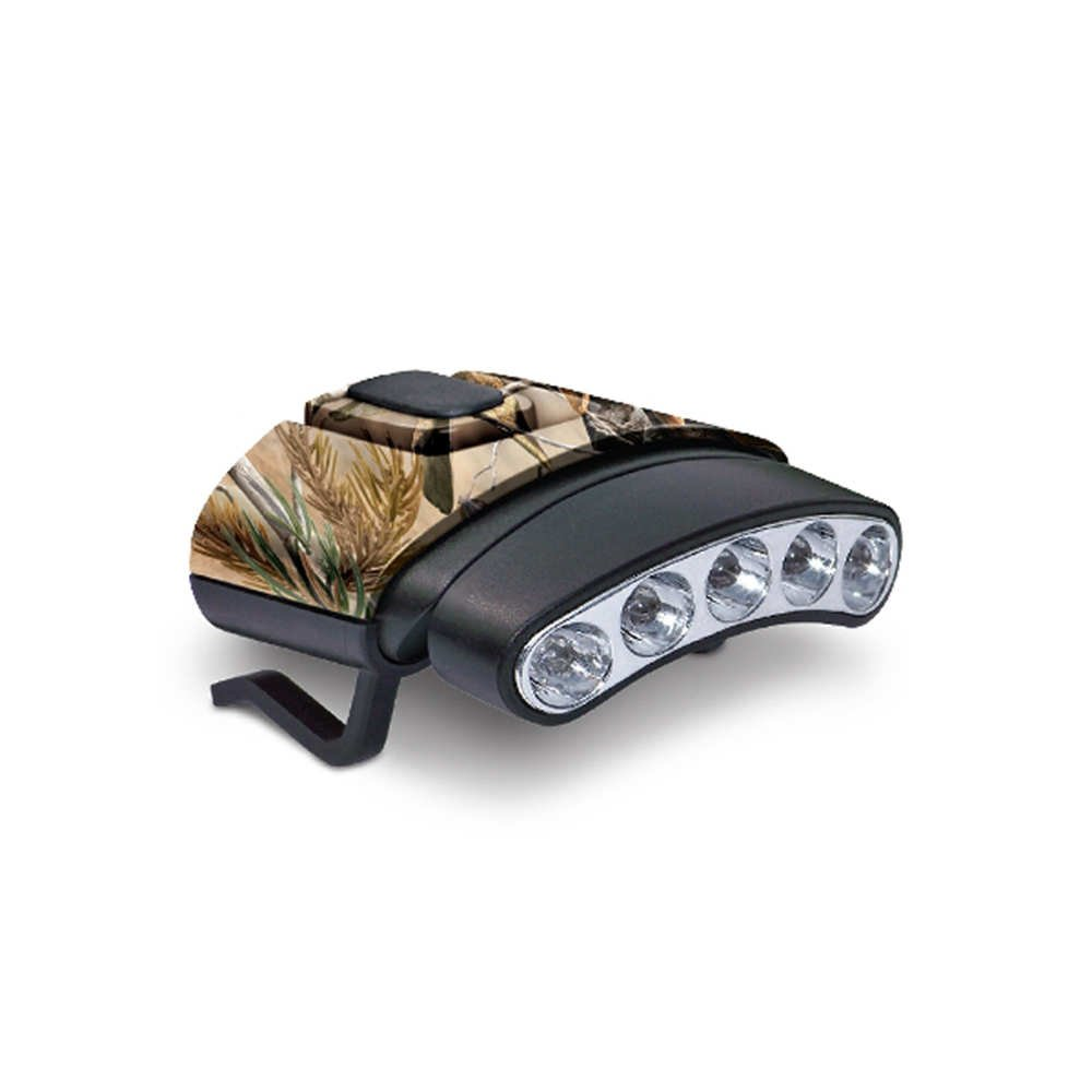 Cyclops CYC-HCDT-WGRT Tilt White/Green LED Hat Clip Light, Camouflage by GSM Outdoors
