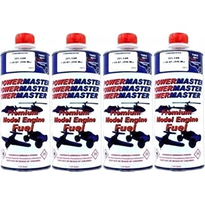 POWER MASTER ~ FOUR Quarts of 20% Nitro Fuel ~ Premium Model Engine Fuel by Power Master: Toys & Games