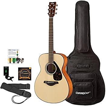 yamaha fs800 concert acoustic natural top guitar with with chromacast padded gig bag. Black Bedroom Furniture Sets. Home Design Ideas