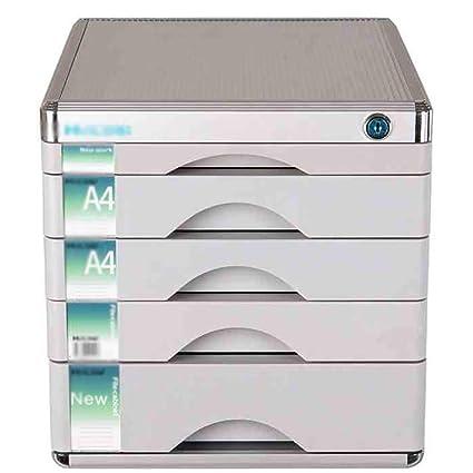 RTTwe Almacenamiento de Archivos Gabinete de Archivos 5 cajones archivador Sistema de Oficina en casa -
