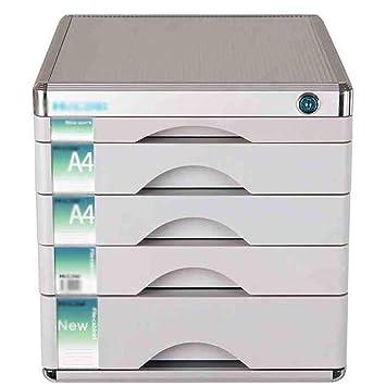 RTTwe Almacenamiento de Archivos Gabinete de Archivos 5 cajones archivador Sistema de Oficina en casa - gabinete con Llave de Almacenamiento con Llave ...