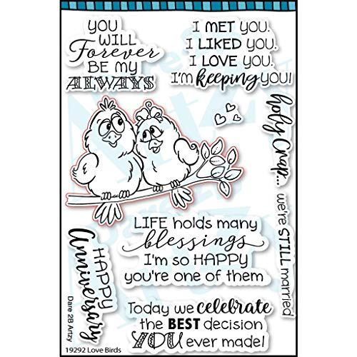 (Dare 2B Artzy Love Birds Clear Cling Rubber Stamp Set)