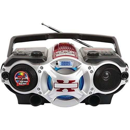 Bluetooth AM FM Boombox in Red product image