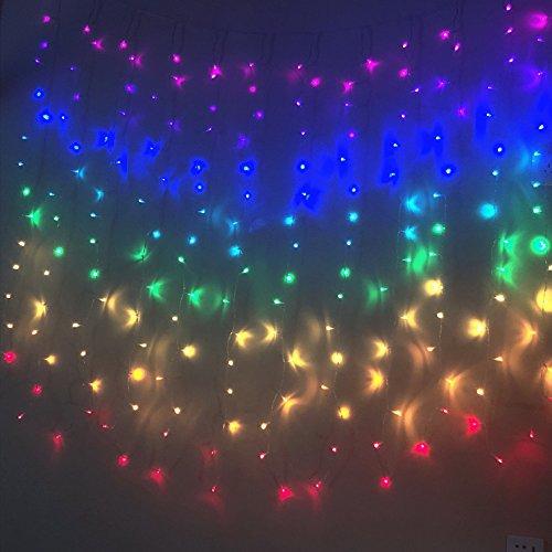 Fefelightup Rainbow Curtain Lights Fairy Lights Icicle Lights Fantasy Unicorn (Rainbow) by FEFE (Image #1)