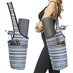 Ewedoos Yoga Mat Bag with Large Size Pocket and Zipper Pocket, Fit Most Size Mats. (Namaste)