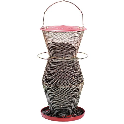 Squirrel Flowers Proof (No/No RB300334 Red and Brass Standard 3 Tier Feeder)