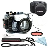 Photo : For Sony A6500 A6300 A6000 [ILCE-6500/6300/6000] 195FT/60M Underwater camera diving waterproof housing(Housing + Cover + Red Filter)