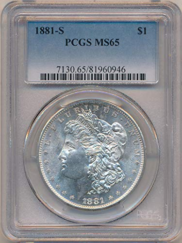 1881 S Morgan Dollar Morgan Dollar MS65 PCGS