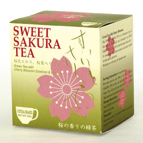 1 X Sweet cherry tea (tea bag 2g×10P) Sakura green - Cherry Sweet Tea