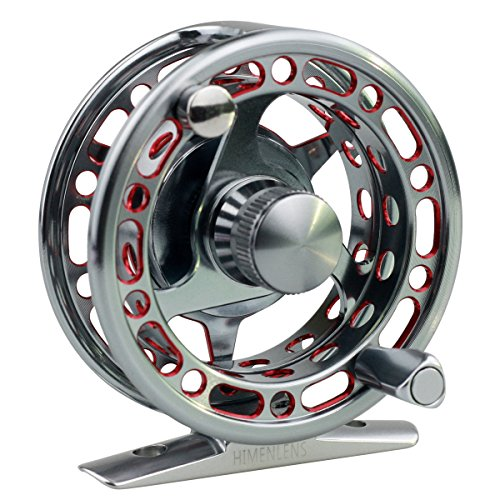 HIMENLENS Ice Fishing Reel Right/Left Double Color All Metal CNC Raft Wheel Ice Reel with 3+1 Ball Bearings(H-70) - Power Grip Performance Clutch