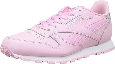 Reebok Classic Leather Pastel, Zapatillas de Running para Mujer, Rosa (Rosa/(Charming Pink/White) 000), 38 EU: Amazon.es: Zapatos y complementos