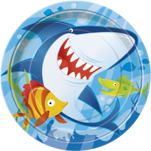 Ocean Shark Dinner Plates, 8ct (Fish Themed Party Supplies compare prices)