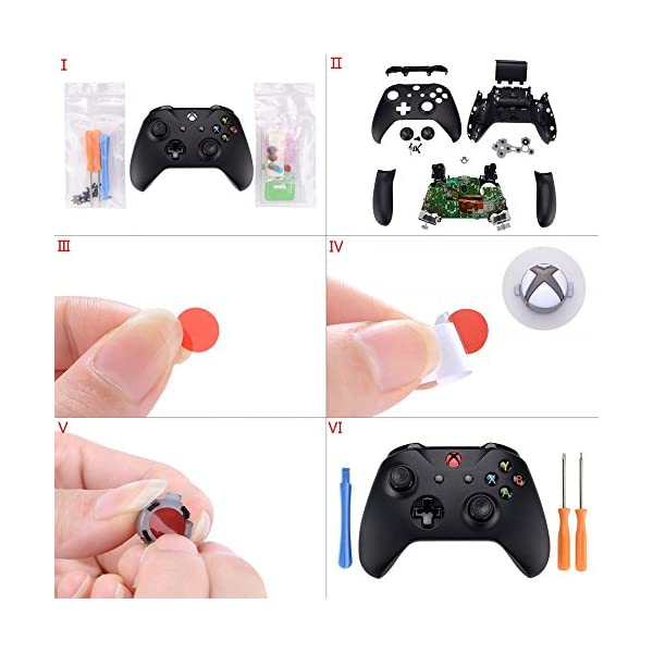 eXtremeRate Custom Home Guide Button LED Mod Stickers for Xbox One/S/Elite/X Controller with Tools Set - 40pcs in 8 Colors 3