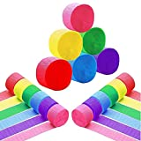Crepe Paper Streamer Multi-color Party Decorations Streamer Paper for Various Birthday Party Wedding Festival Party Decorations 12 Rolls