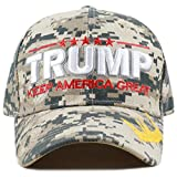 THE HAT DEPOT Exclusive Trump Keep America Great/Make America Great Again 3D Signature Cap (2020-Digital Camo)